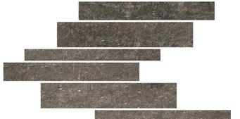 la roche Mud naturale-anticata---strutturata  modulo listello sfalsato mix 21x40 cm