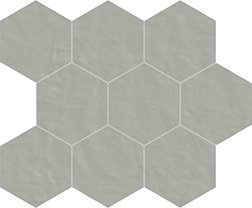 04 ferro naturale  mosaico esagono 10x10 cm