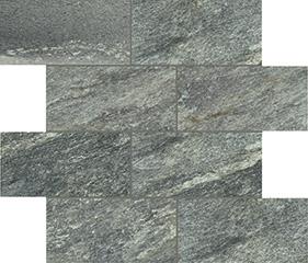 Green glossy  modulo muretto sfalsato 7,5x15 30x30 cm
