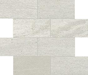 White matte  modulo muretto sfalsato 7,5x15 30x30 cm
