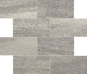 Grey glossy  modulo muretto sfalsato 7,5x15 30x30 cm