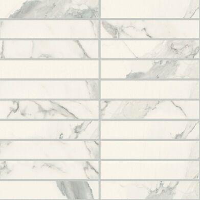 Statuario soft  mosaico 3x15 30x30 cm