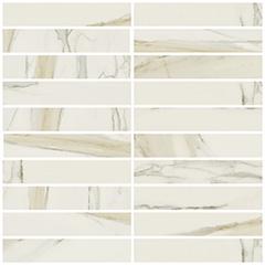 Statuario glossy  mosaico 3x15 30x30 cm