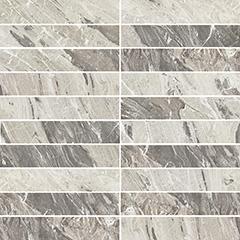 marble gray matte  mosaico 3x15 30x30 cm
