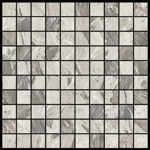marble gray matte---shiny  mosaico mix 3d 3x3 30x30 cm