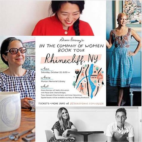 "hey frends, i was honored to be on a panel wth this astonishngly talented group speaking about women in busness...as part of my friend grace bonney's book tour for ""in the company of women"" . http://www.designsponge.com/book   what an inspiring and fun night!"