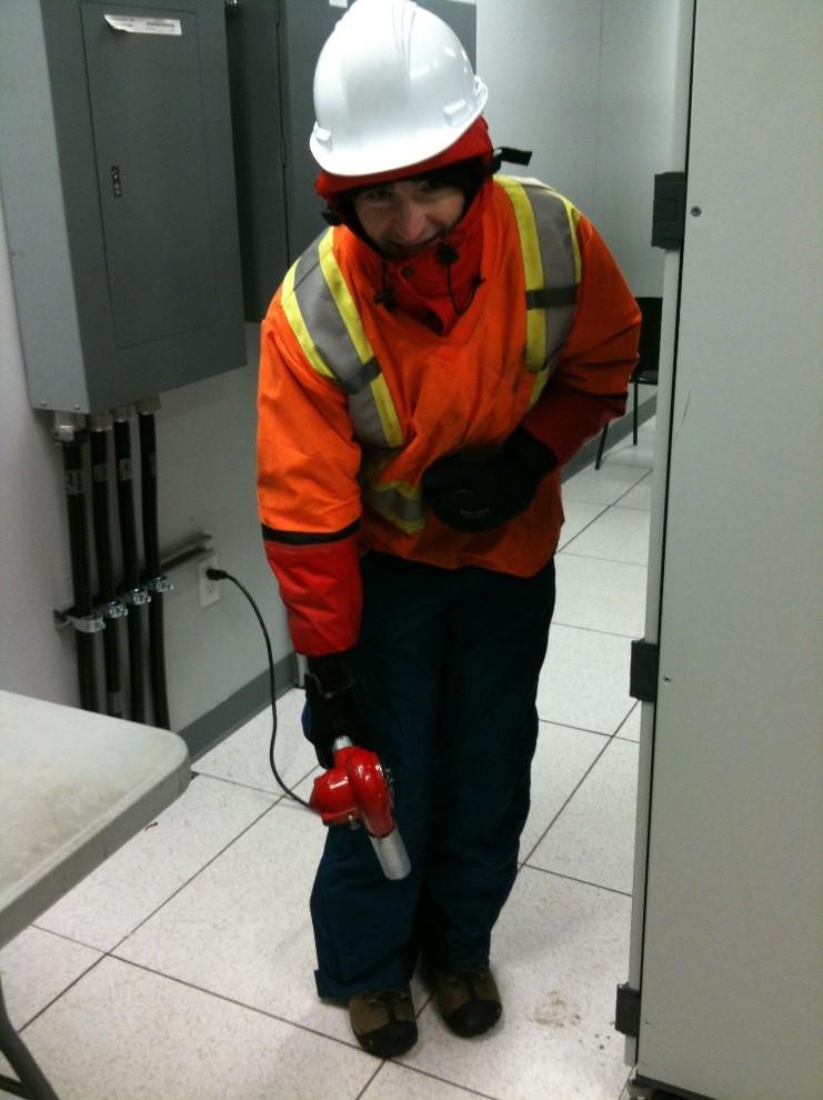 Toe warming at a jet engine testing facility