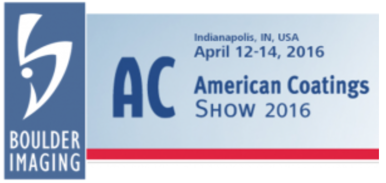 Visit BI at the American Coatings Show - Boulder Imaging is proud to exhibit at the American Coatings Show of 2016 in Indianapolis, IN.