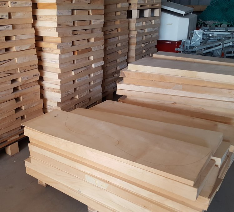 Visiting the wood store