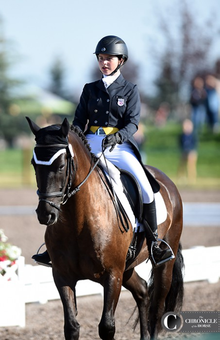 Callia Englund and Xyder are representing the combined Area IV and VII team here at the Adequan FEI North American Youth Championships. All photos by Lisa Slade.