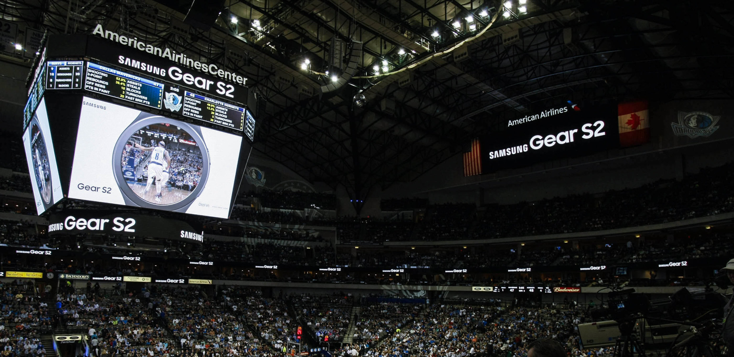 Samsung - Dallas Mavericks - Branded Feature and LED