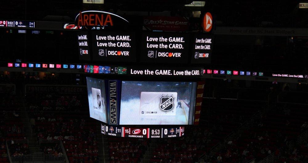 NHL sponsorship live environment
