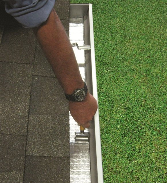 Relining gutters is just one application where Peel & Seal is ideal. Measure the height of the gutter x 2 + the bottom and order a slit width size to accommodate these measurements.