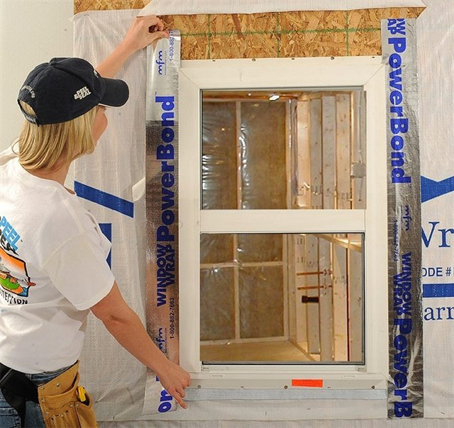 WindoWrap® PowerBond™ offers 180 day UV exposure time to offer protection around the window until the finished wall system is installed.