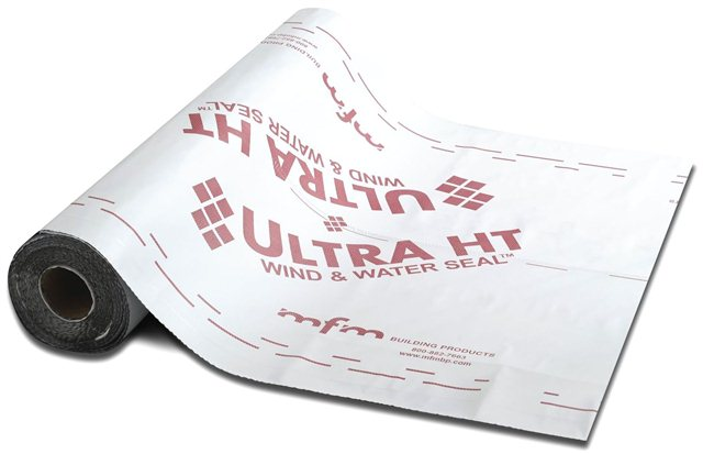 Ultra HT Wind & Water Seal is a premium, 45 mil underlayment designed for high temperature applications such as metal or tile roofing systems.