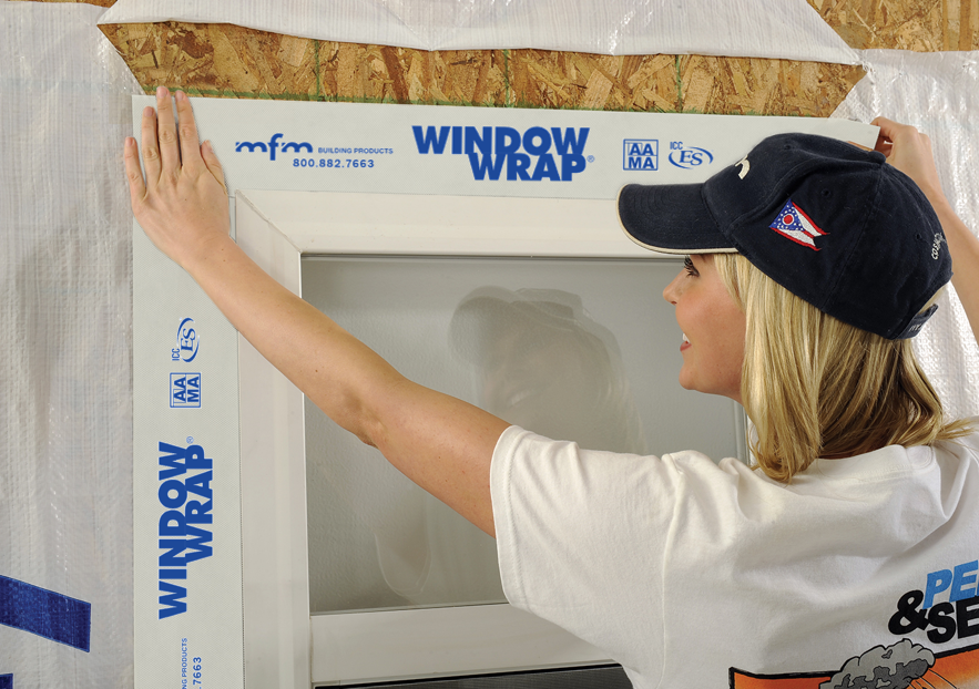 WindowWrap® White offers 30 day UV exposure time for protection until the finished wall system is installed.