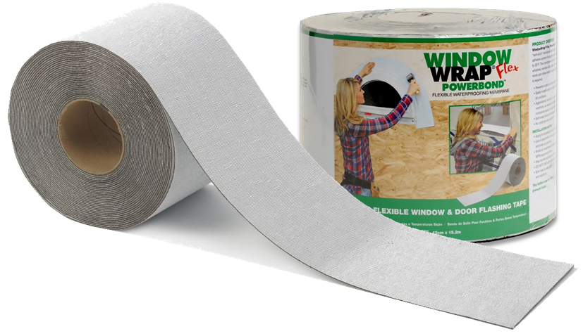 WindowWrap® Flex PowerBond™ only comes in shrink-wrapped and labeled rolls. Instructions are printed in English, French Canadian and Latin American Spanish.