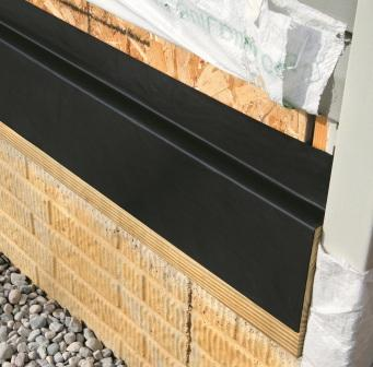 """DeckWrap PowerBond® 12"""" material is ideal to use as the flashing membrane on the ledger board to prevent water infiltration into the back side of the ledger board.."""