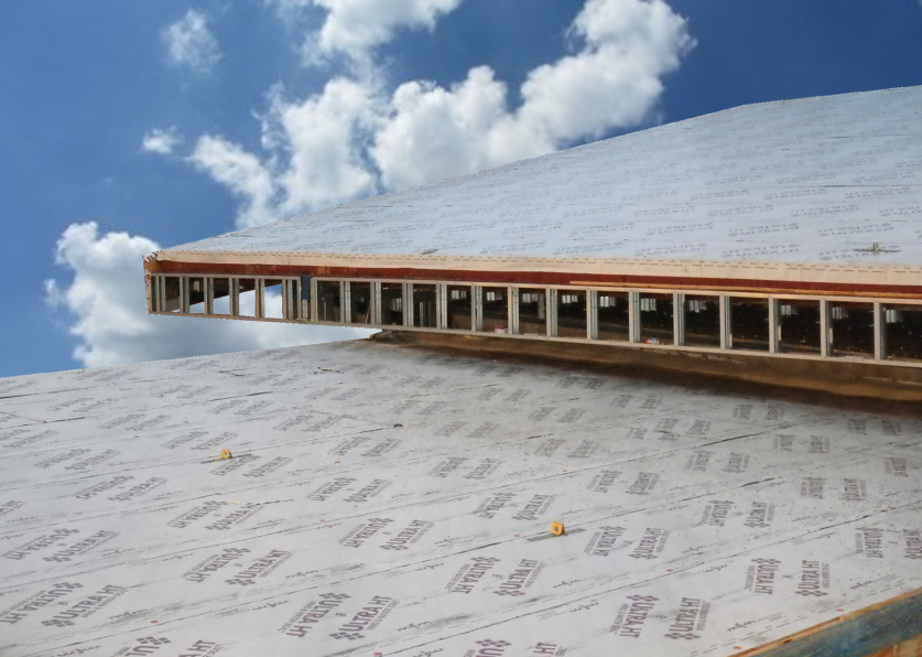 Ultra HT Wind & Water Seal rolls out flat and takes the heat of metal roofing systems.