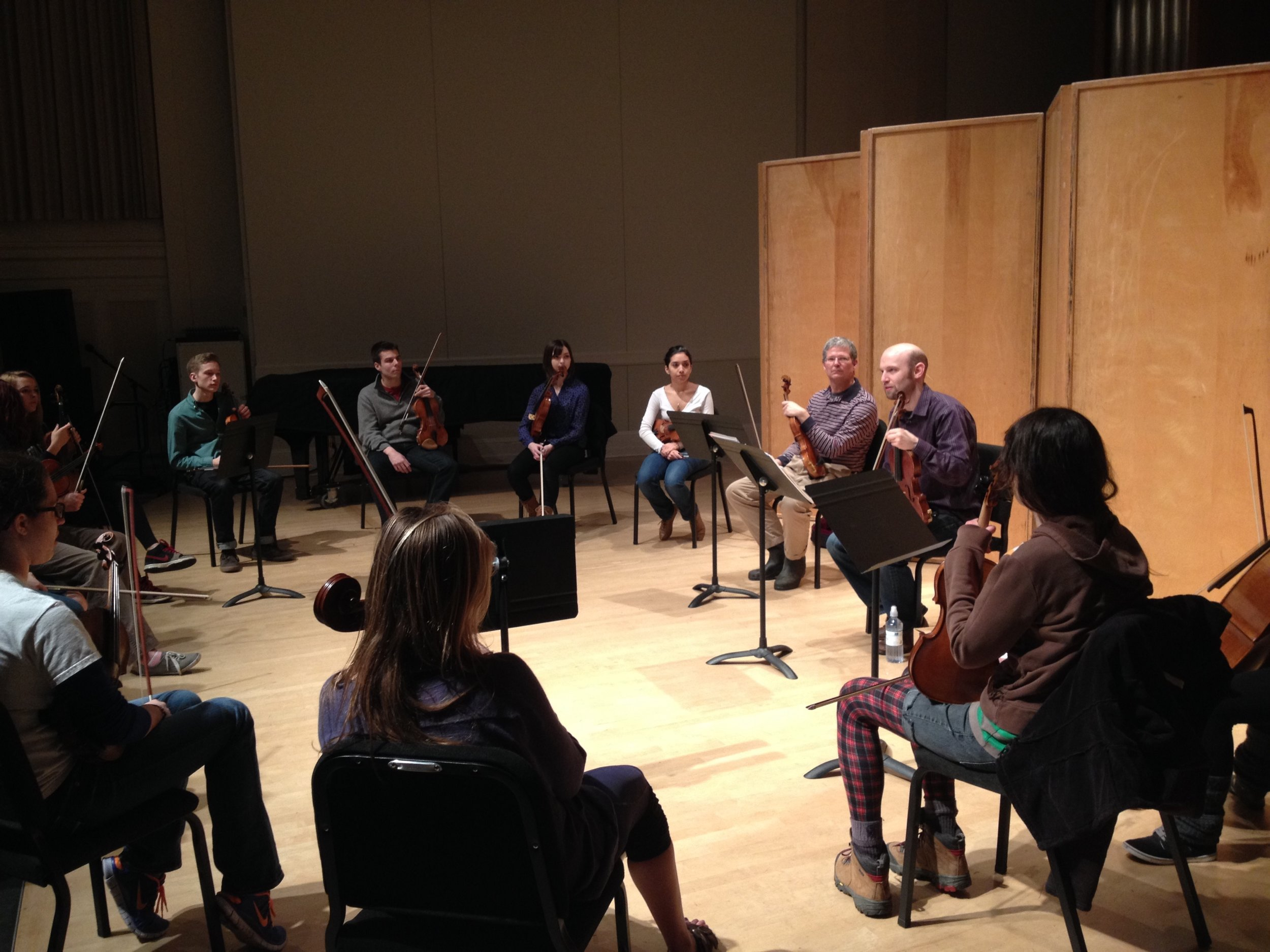 Brandon teaching violin masterclass to Music Majors at University of Oregon