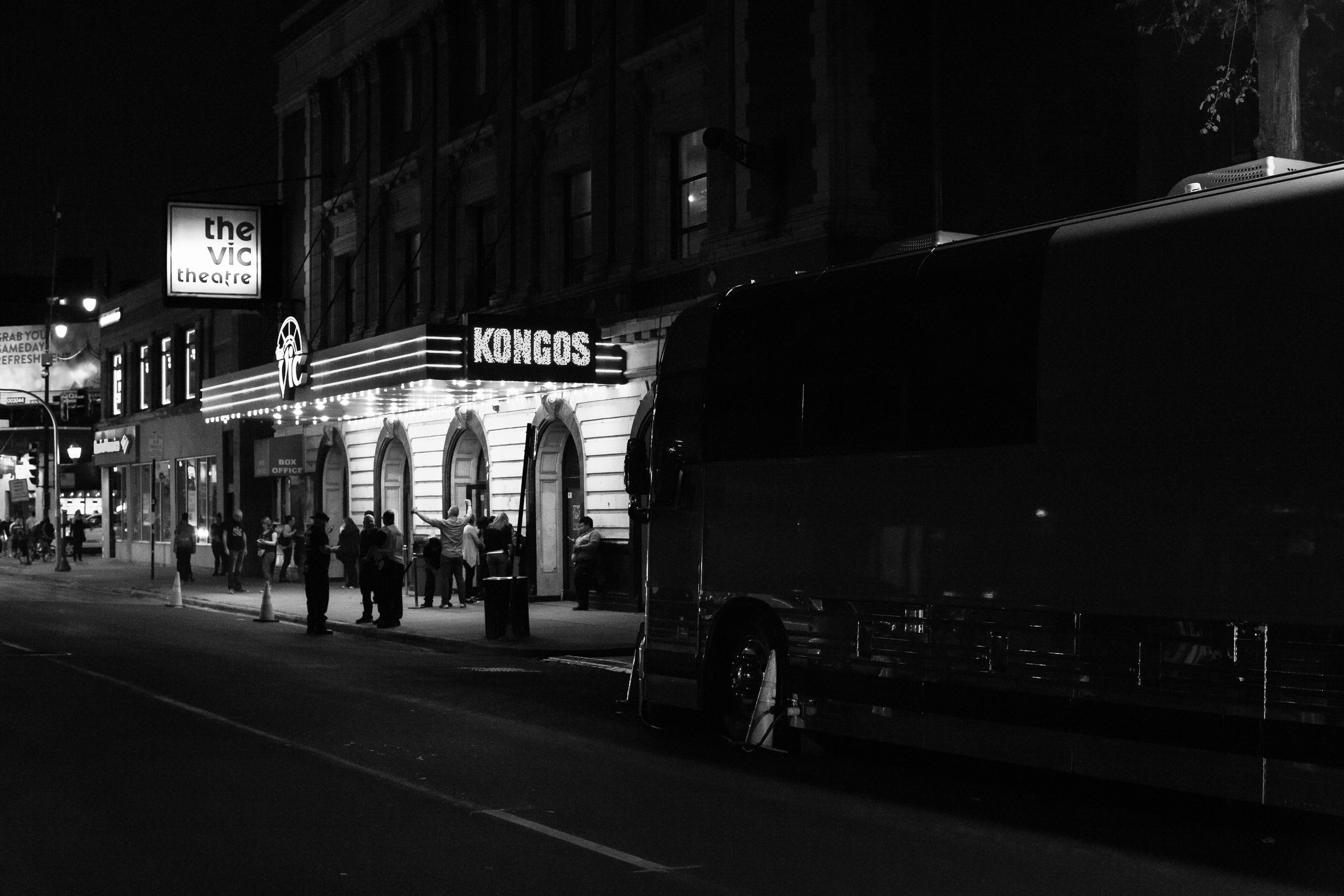 Chicago, Illinois, at The Vic Theatre, where Jeff first started taking photos for us