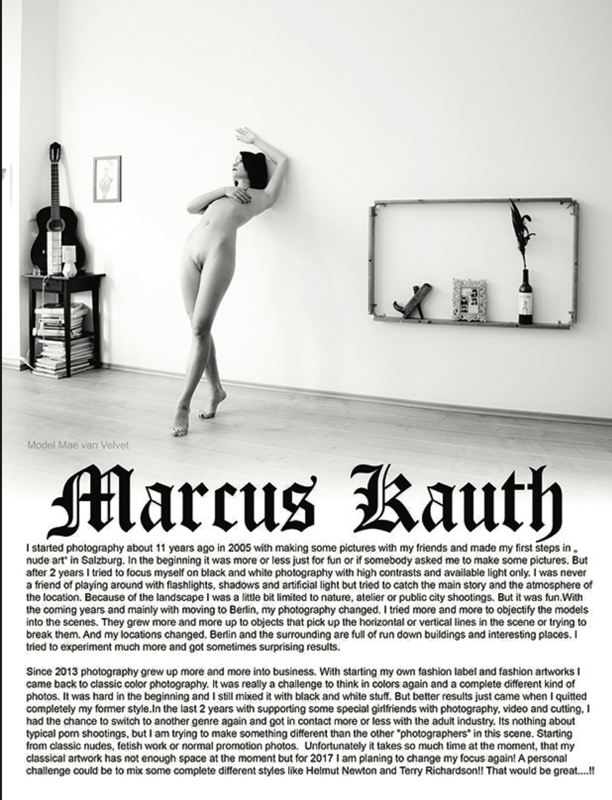 Photographer Marcus Kauth featured on the Erotica side