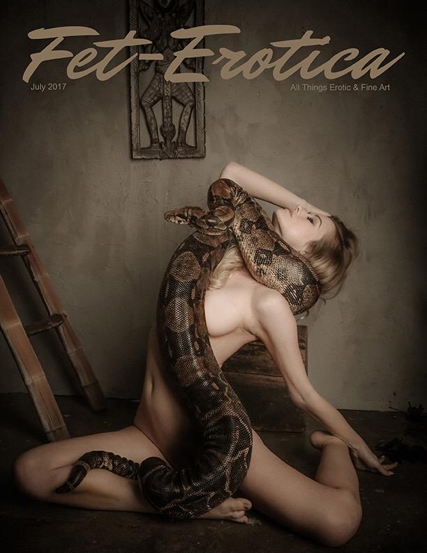 Erotica Cover - Photographer Daniel Chase - Model Olivia Preston - Snake Handler Erotics by Andrea