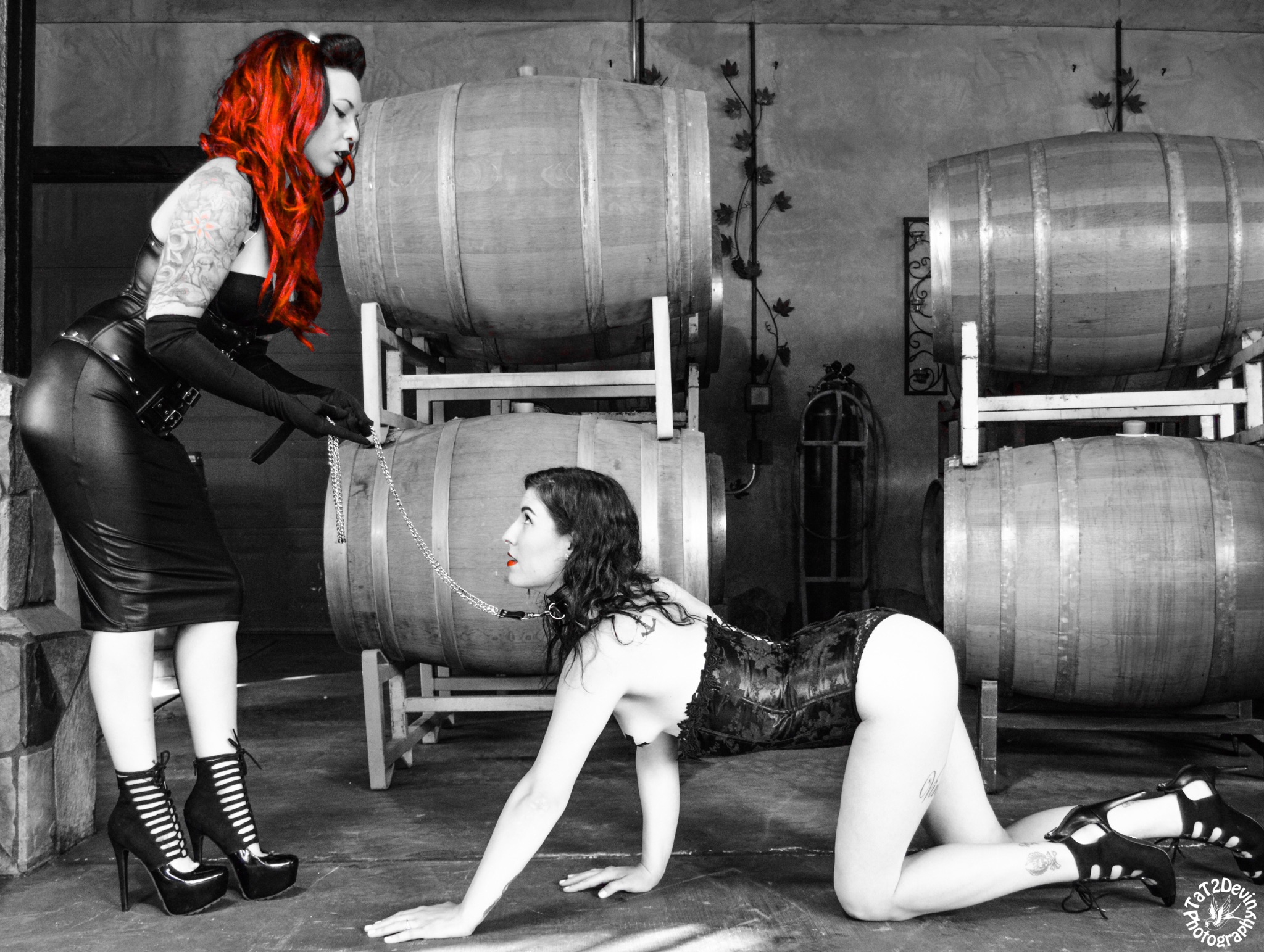 The master gives the gift of control, the slave gives the gift of submission - Models: Miss Rockabellalynne and Ambrosia_rottenPhoto by: Tat2devinphotography