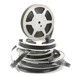 stacked film reels