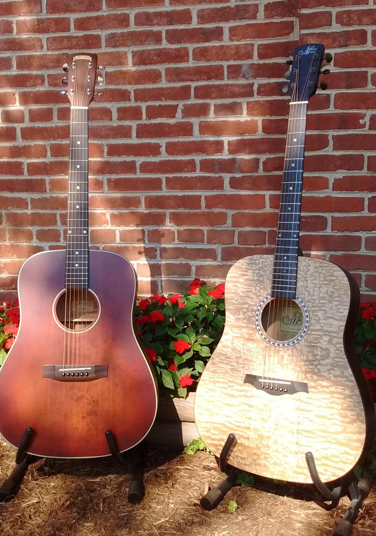 Morgan-Monroe MDC-1B Creekside Acoustic Guitar and Morgan-Monroe M-15QN Quilt Figured Ash