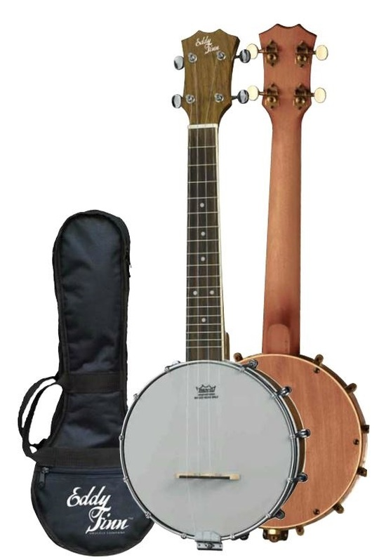 Eddy Finn Walnut Resonator Banjolele
