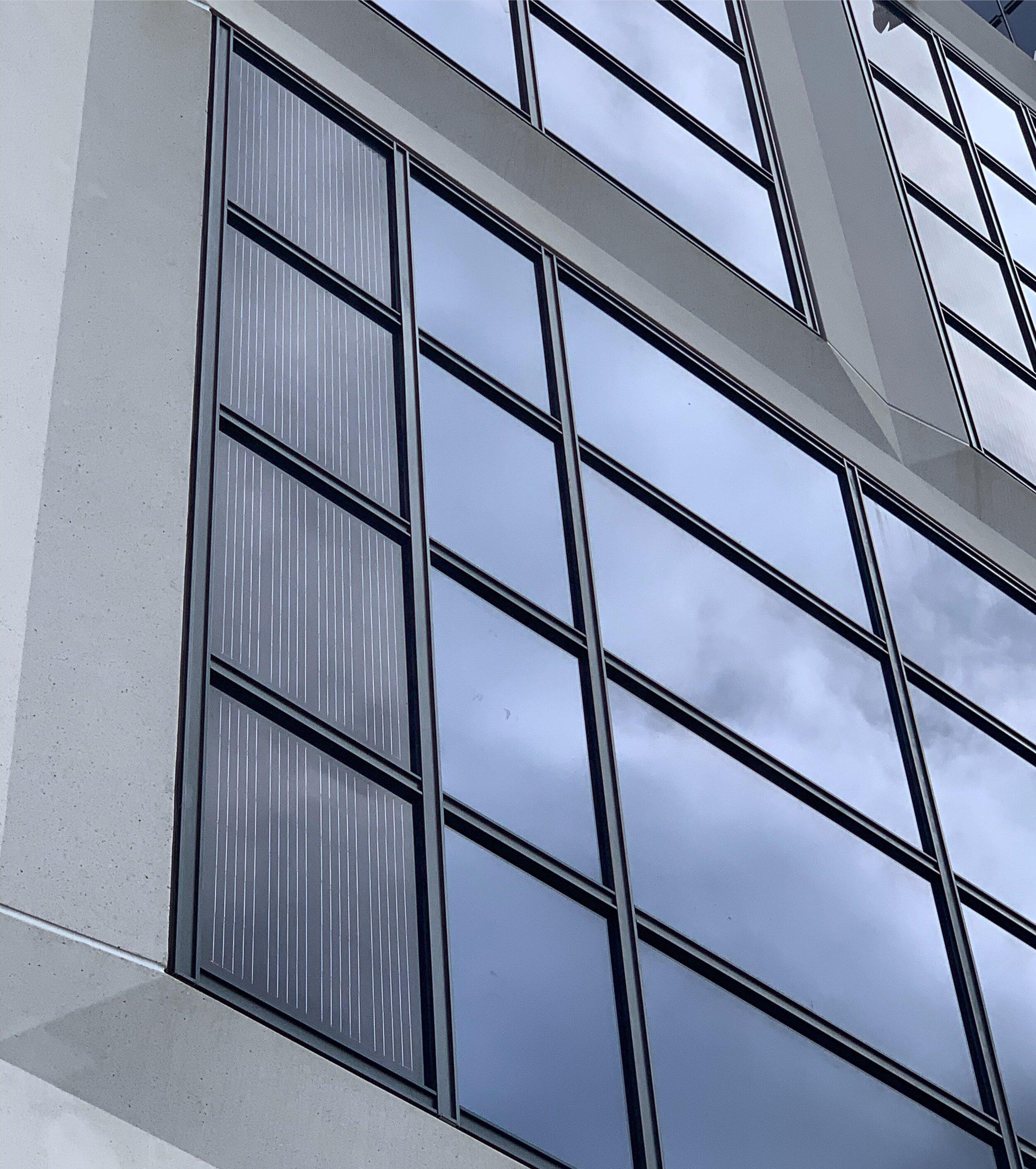 BIPV Curtainwalls Closeup