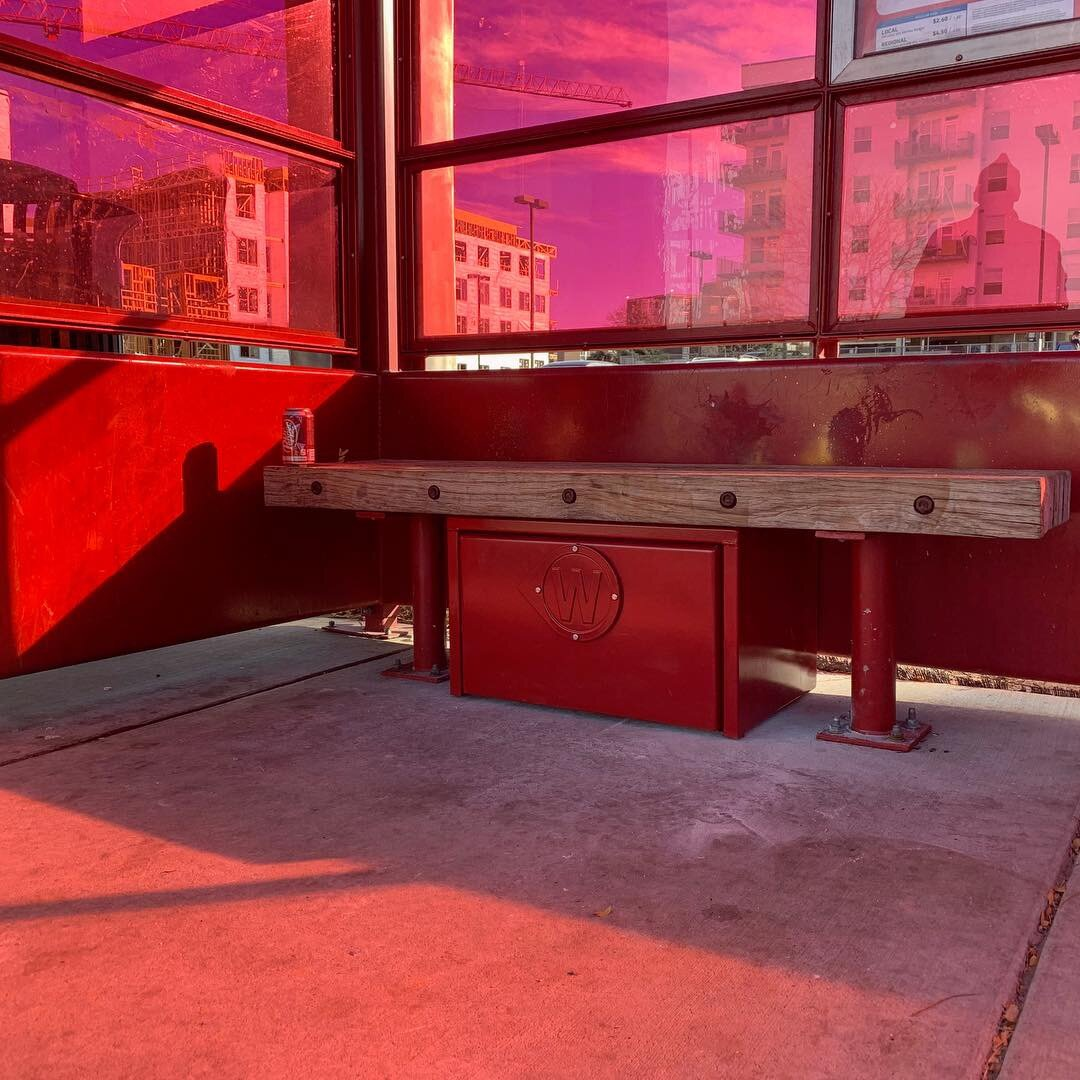 West Colfax BIPV Bus Stop Shelter | Red Daylight