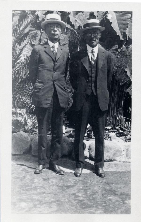 Dosan and Dr. Philip Jaison (Soh Jae Pil) in Los Angeles, 1926.