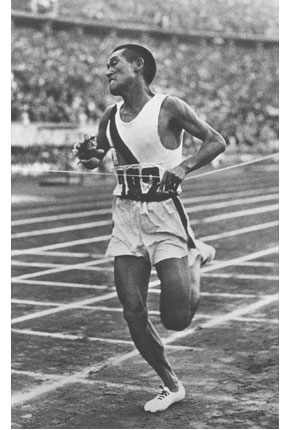 Son Kee Chung had to compete under the Japanese Flag in the1936 Berlin Olympics since Korea was under the control of Japan. He won the Marathon with a Gold medal. Nam Sung Yong, another Korean running under the Japanese flag, won the Bronze medal.