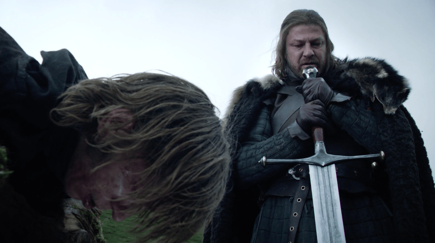 The Warden of the North executing a deserter from the Night's Watch | HBO