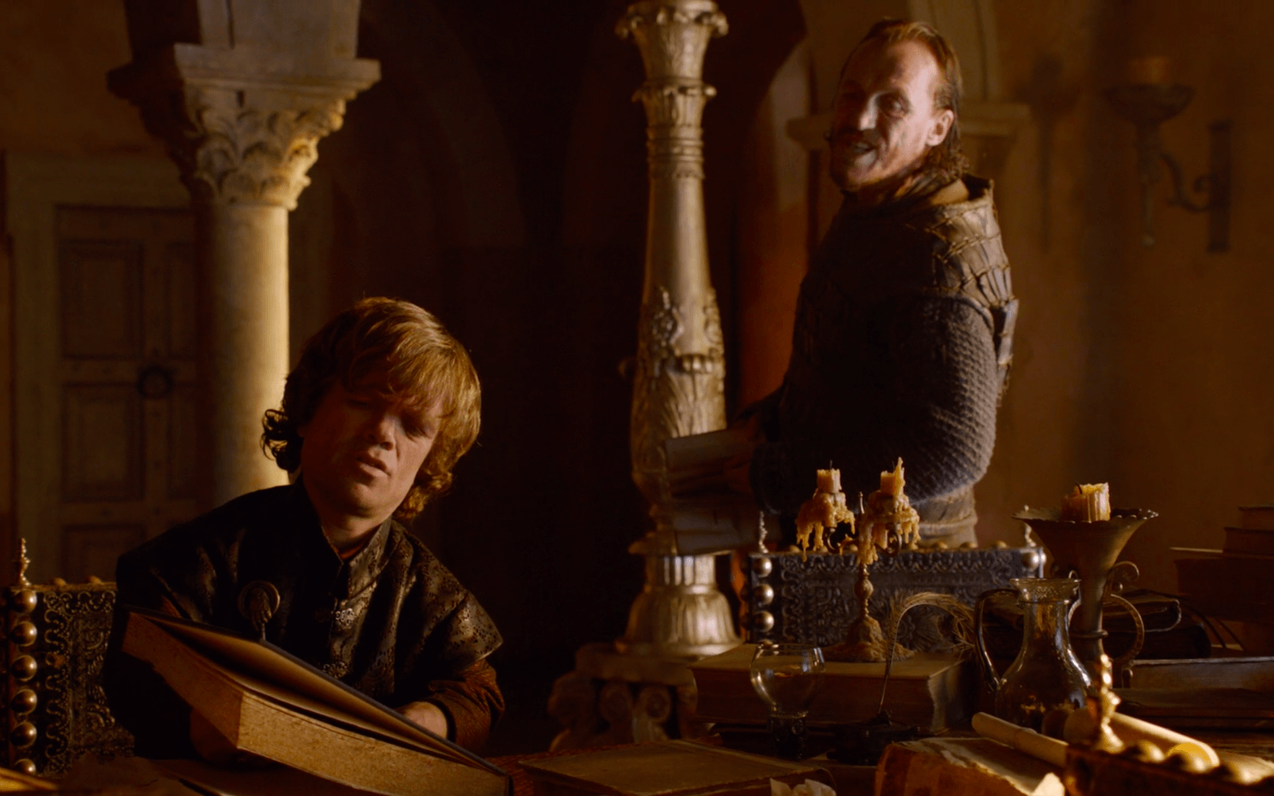 The Hand of the King and the Commander of the Gold Cloaks preparing for a siege | HBO