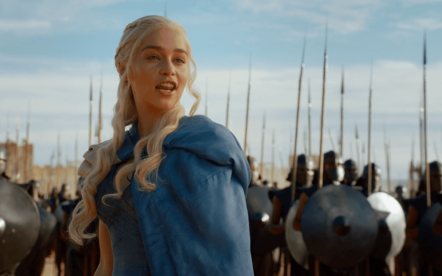A queen showing-off her new army | HBO
