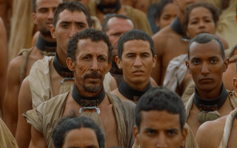 A group of Yunkai slaves. Unlike Westeros, Essos has yet to abolish slavery | HBO