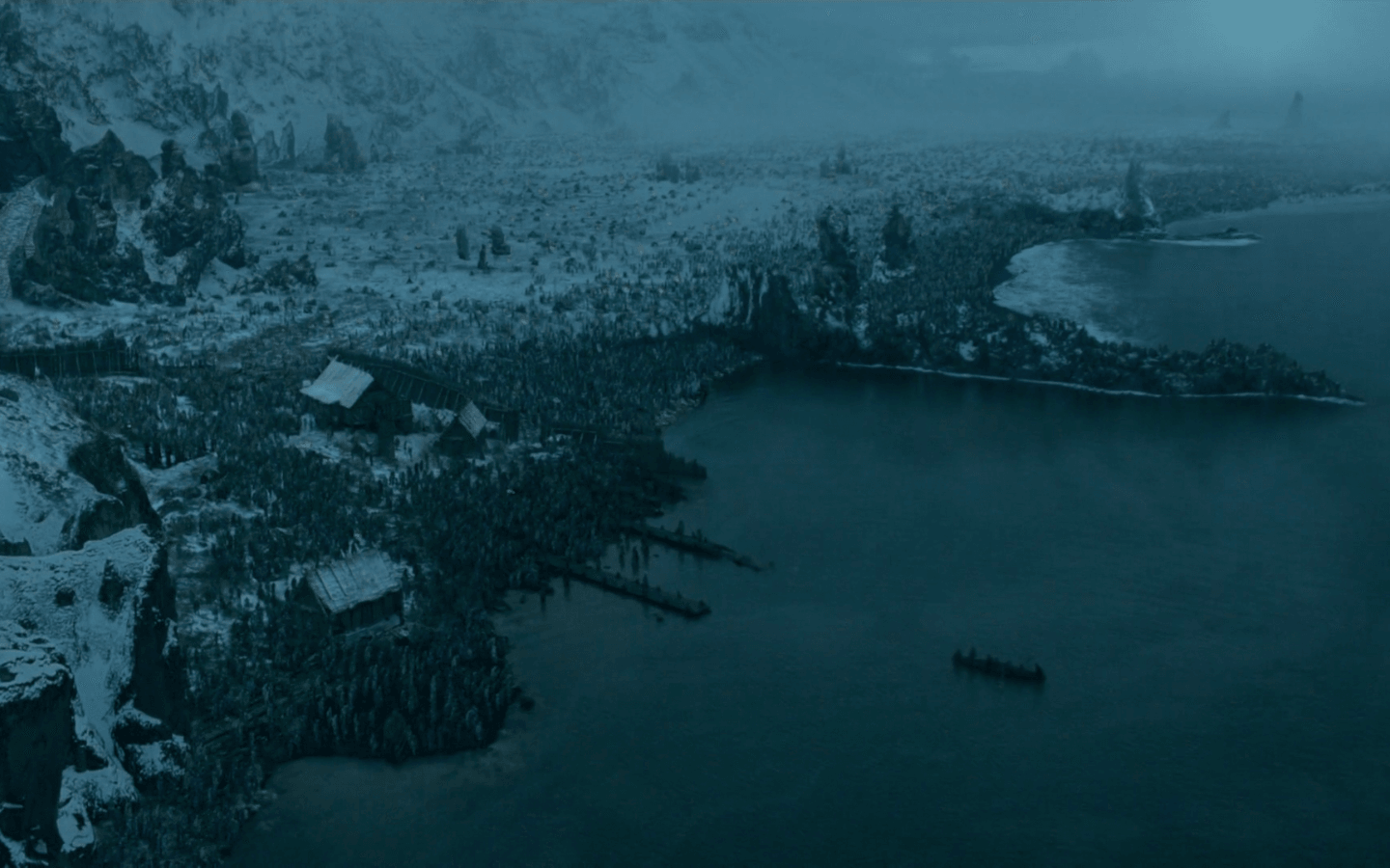 A bird's-eye view of Hardhome, a small village north of the Wall | HBO