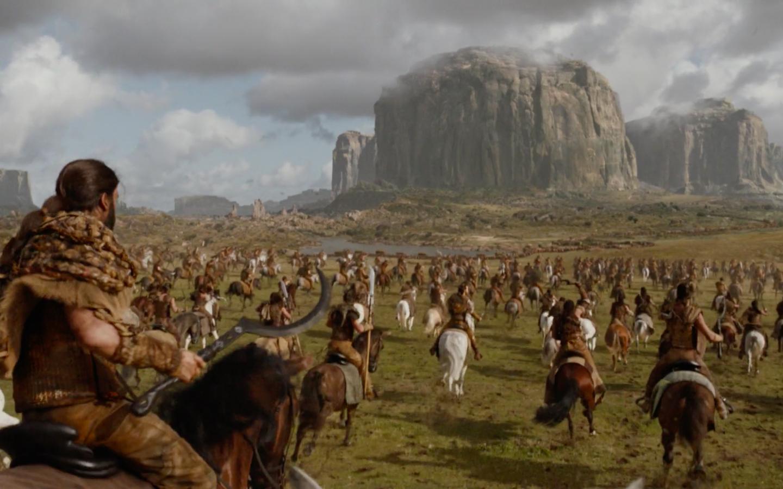 The Dothraki in action | HBO