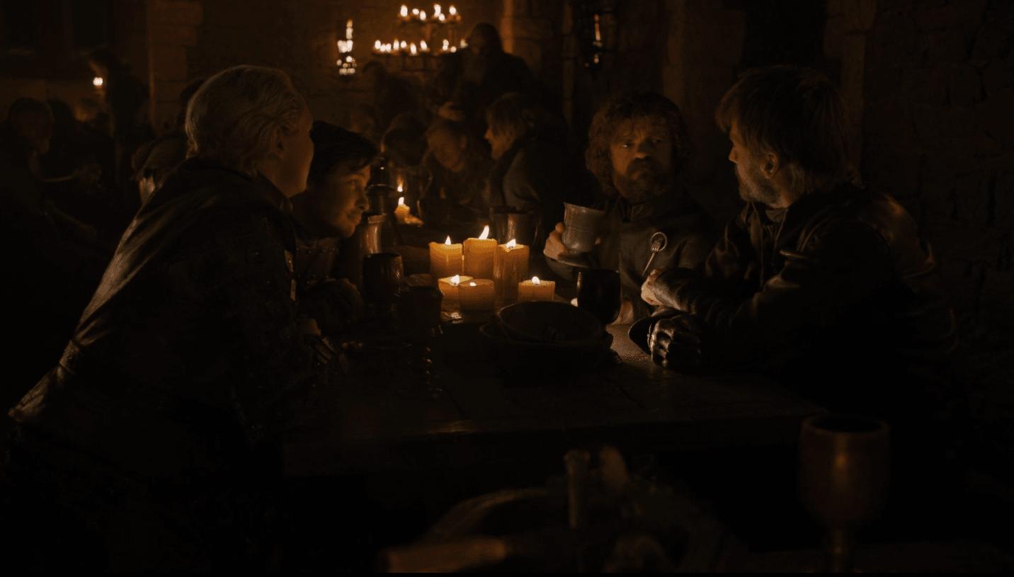 Celebratory feast after the Battle of Winterfell | HBO