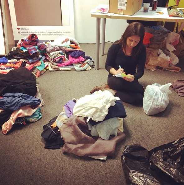 Instagram photo by gnvfashionweek - Working hard for tomorrow's Trunk Show at Thrift 5! @meshrose @neutral7 #aiginthecity #gfw2014