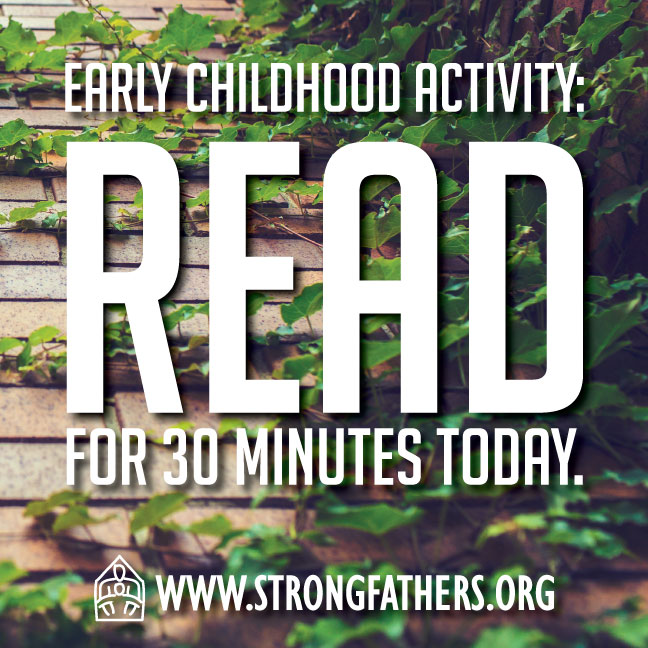 Dads read with your young child for 30 minutes today.