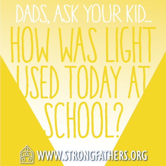 How was light used at school today?