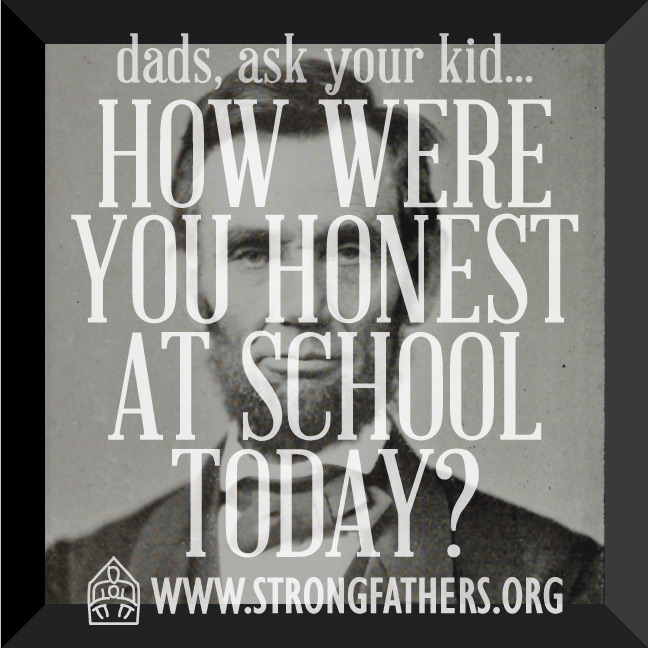 How were you honest at school today?
