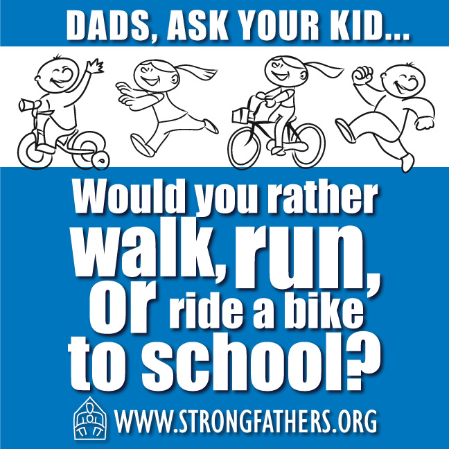 Would you rather walk, run, or ride a bike to school?