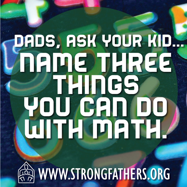 Name three things you can do with math.