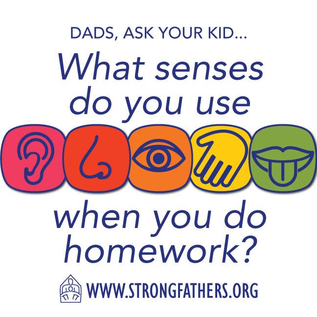 What senses do you use when you do homework?