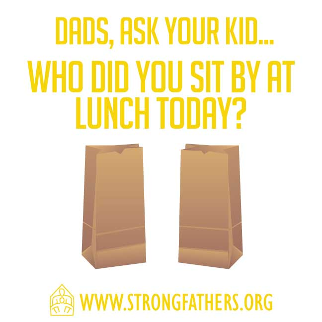 Who did you sit by at lunch today?